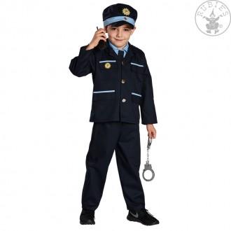 Kostýmy - Kostým policista - tm.modrý