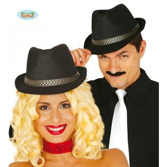 Klobúky - Čierny klobúk so stuhou