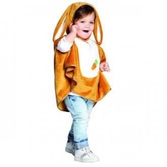 Kostýmy - Detská pelerína s kapucňou - zajačik