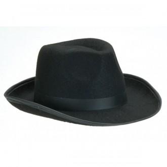 Klobúky - Pánsky čierny klobúk