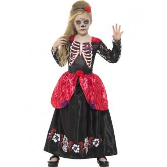 Kostýmy - Dievčenske šaty Deň mrtvych