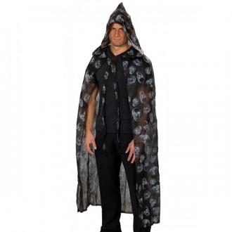 Halloween - Plášť s potlačou - lebky