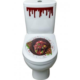 Halloween - Samolepka na WC zombie