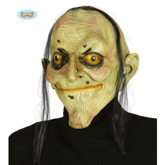 Masky - Latexová maska čarodejnice s vlasmi