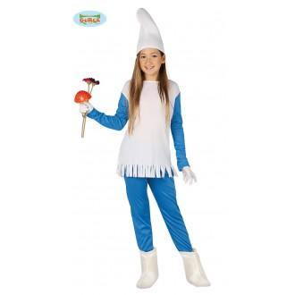 Kostýmy - Modrý škriatok - dievčenské kostým