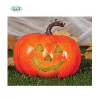 Halloween - Tekvica s osvetlením 11 cm