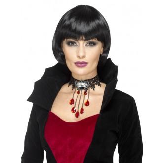 Bižutéria - Halloweensky náhrdelník s brošňou