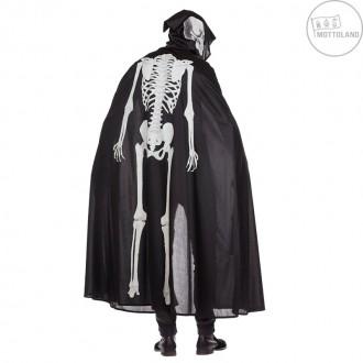 Halloween - Svietiace kostlivec - plášť s potlačou