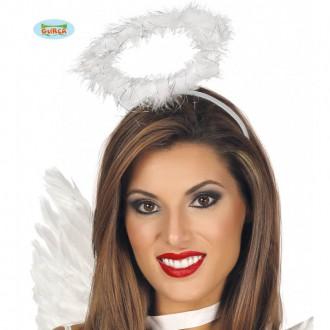 Mikuláš, anjel, čert - Anjelská svätožiara biela
