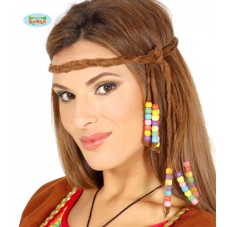 Doplnky - Hippie čelenka s korálkami