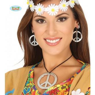 Bižutéria - Hippie náhrdelník a náušnice