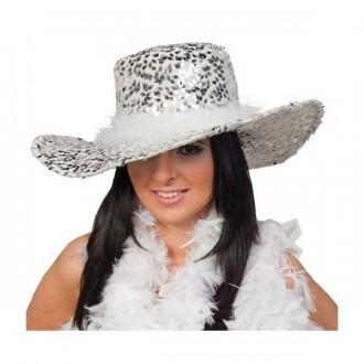 Klobúky - Dámsky klobúk s flitrami