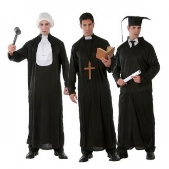 Kostýmy - 3 v 1 - sudca, kňaz a študent