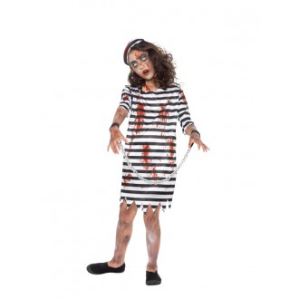 Kostýmy - Dievčensky kostým zombie väzeň