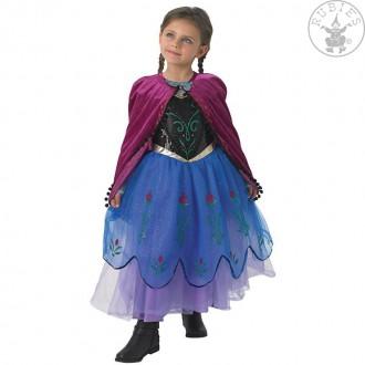 Kostýmy - Detský kostým Anna Deluxe - ľadové kráľovstvo