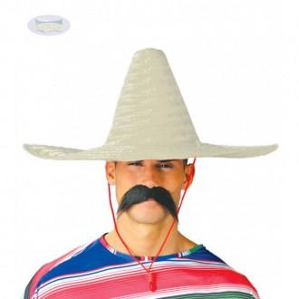 Klobúky - Mexický klobúk 50 cm prírodná