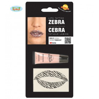 Doplnky - Tetovanie na pery zebra