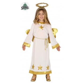 Kostýmy - Detský anjel zlatý