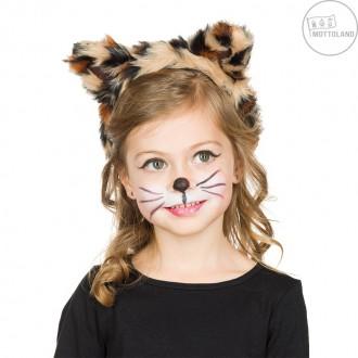 Doplnky - Leopard - čelenka pre deti