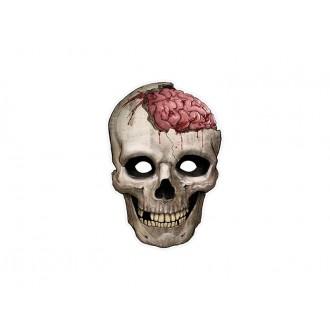 Halloween - Kartónová maska lebka