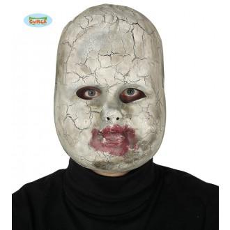 Halloween - Porcelánová bábika - maska