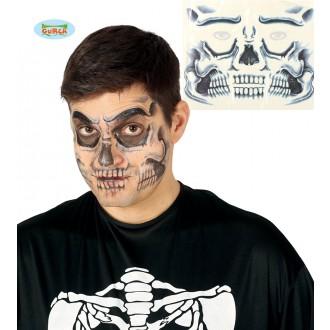 Halloween - Tetovanie na tvár - smrtka