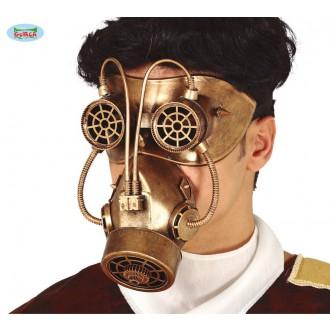 Halloween - Maska - plynová maska Steampunk