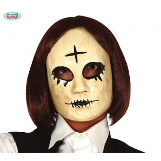 Halloween - Žena s krížikom - plastová maska