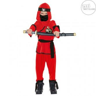 Kostýmy - Ninja bojovník - červenočierny
