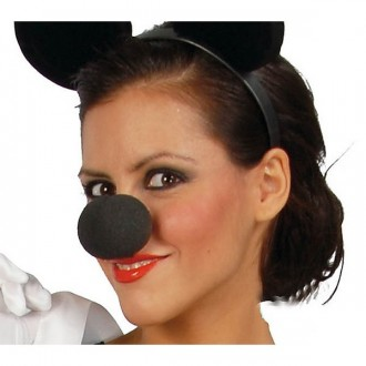Doplnky - Nos penový čierny MIKI 3982 - 5 cm