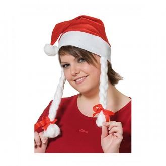 Klobúky - Vianočná čiapočka s copy