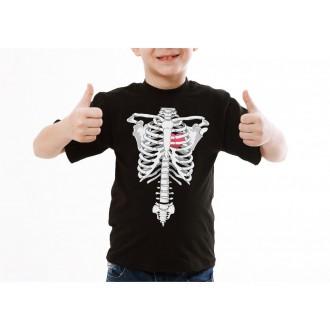 Halloween - Detské tričko kostra rentgen