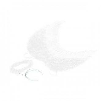 Doplnky - Krídla anjel páperová so svätožiarou