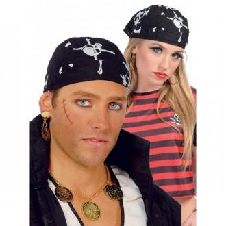 Klobúky - Pirátska šatka s motívom lebky