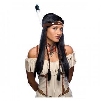Indiáni - Indiánka s čelenkou - karnevalová parochňa