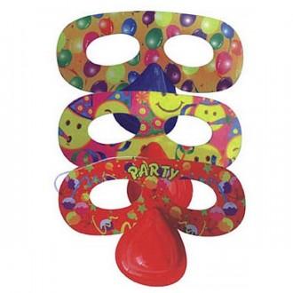 Masky - Škraboška papierová s nosom