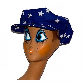 Klobúky - Bavlnená čiapka modrá s hv.