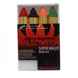 Halloween - Líčidlá - ceruzky hrubé Halloween