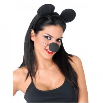 Doplnky - Myší uši na vlasové spone