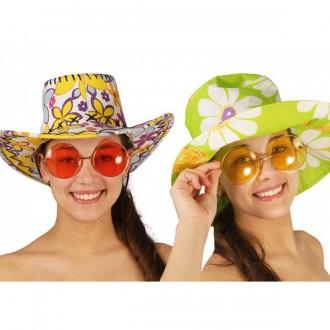 Okuliare - Veľké okuliare Hippie - mix farieb