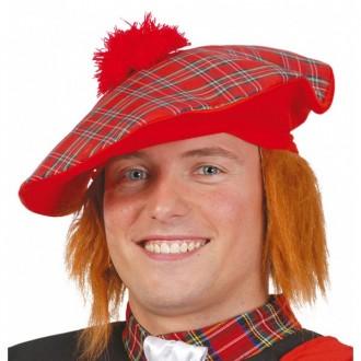 Klobúky - Škótska čiapka s hrdzavými vlasmi
