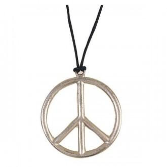 Bižutéria - Náhrdelník - Peace priem. 6,5 cm