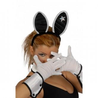 Rukavice - Biele rukavice 25 cm