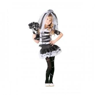Kostýmy - Čiernobiela nevesta