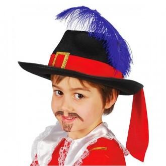 Klobúky - Mušketier detský
