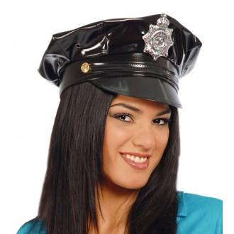 Klobúky - Policajná čiapka - vinyl