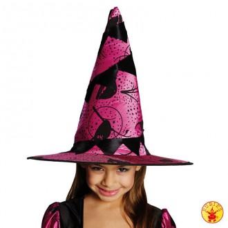Čarodejnice - Detský čarodejnícky klobúk vínový s motívom