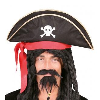 Klobúky - Pirátsky klobúk pre dospelých so stuhou