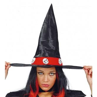 Čarodejnice - Čarodejnícky klobúk s lebkami