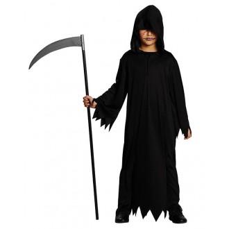 Kostýmy - Čierny habit s kapucňou